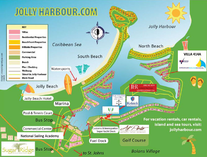 Jolly Harbour map