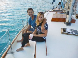 Day sailing in Antigua