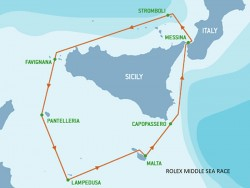 Rolex Middle Sea Race route