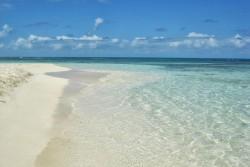 Deserted Caribbean island beach