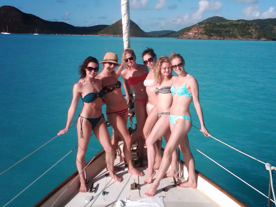 Girls only sailing days in Antigua