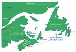 Route Halifax - St Pierre Ocean Race Yacht Charter