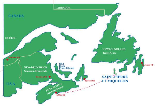 Yacht Charter Route HalifaxSt Pierre Miramar Sailing
