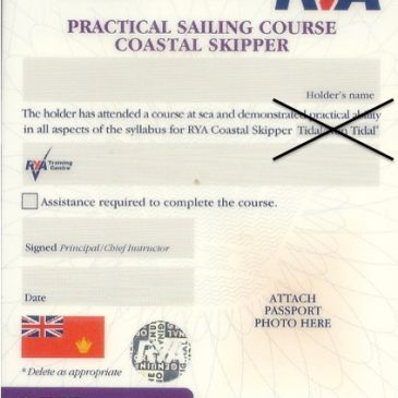 RYA Revises Non Tidal / Tidal Qualifications