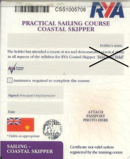 RYA Revises Non Tidal / Tidal Qualifications