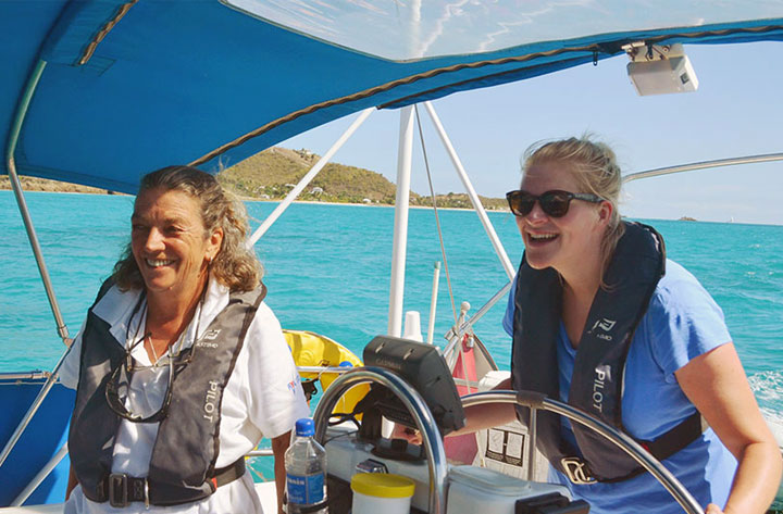 Women only sailing in the Caribbean